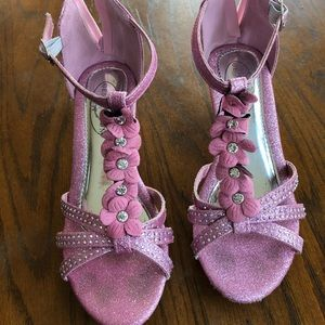 Girls pink pageant/dress shoes